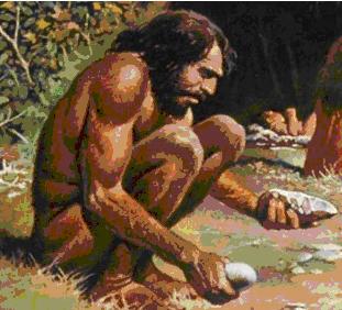 Язык и создание каменных орудий